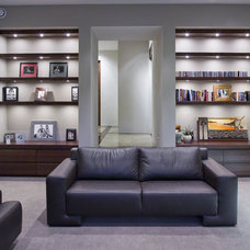 Modern Living Room by Mal Corboy Design and Cabinets