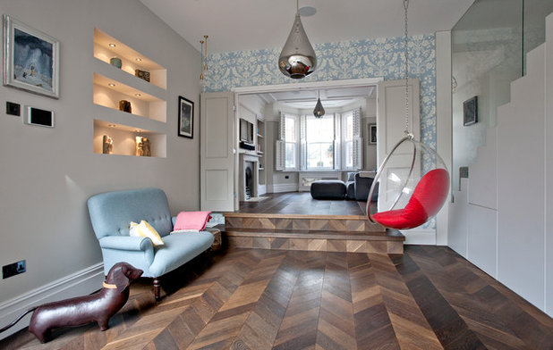 Transitional Living Room by A1 Lofts and Extensions