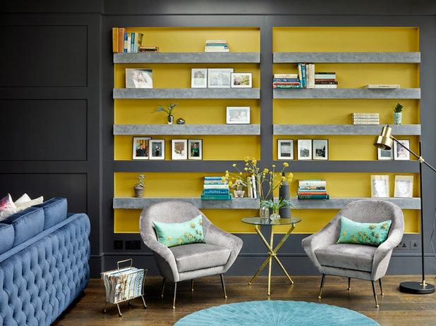 Transitional Living Room by LEIVARS