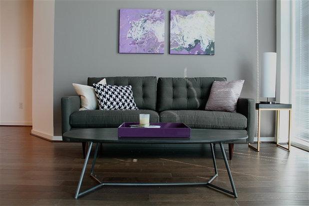 Modern Living Room by S Squared Design, LLC