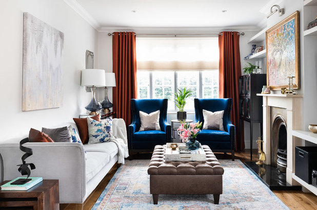Transitional Living Room by Christine Tse