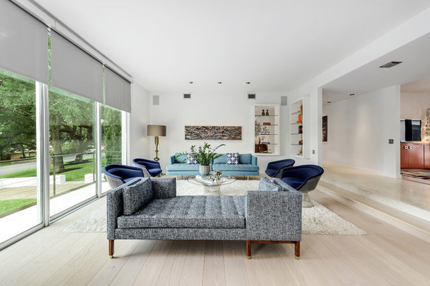 Contemporary Living Room by Twist Tours Photography