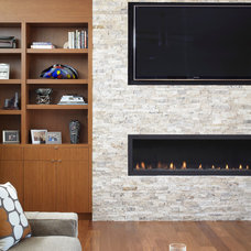 Contemporary Living Room by Cornerstone Architects