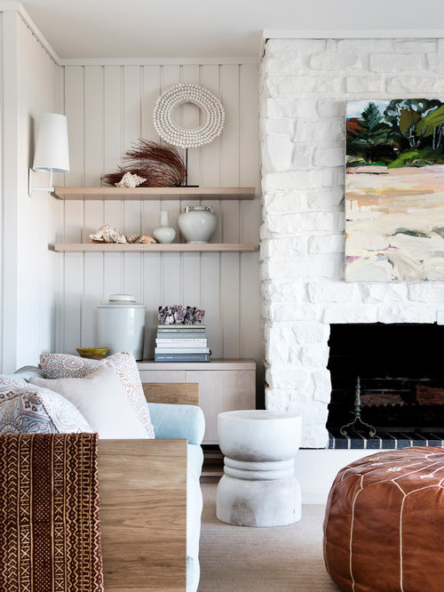 Design Ideas For A Mid Sized Beach Style Open Concept Living Room In Sydney  With
