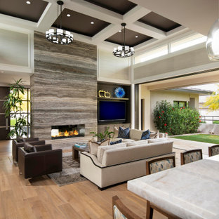75 Beautiful Brown Living Room Pictures Ideas February 2021 Houzz