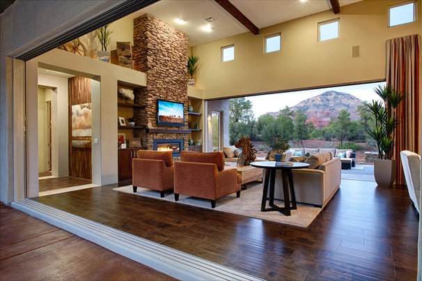 Transitional Living Room by Dorn Homes