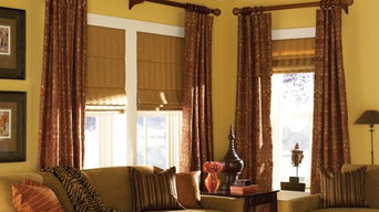 Ring Top Panels with Pleated Roman Shades