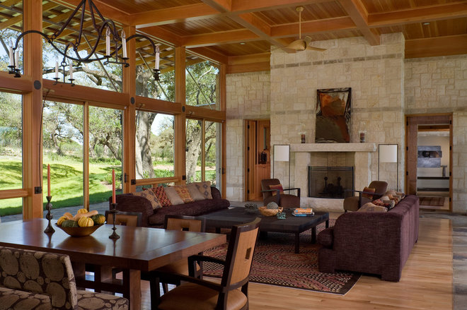 Contemporary Living Room by Craig McMahon Architects, Inc.