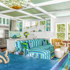 Old Greenwich Beach Family Room Beach Style Living