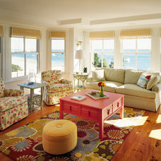 Beach Style Living Room by Polhemus Savery DaSilva