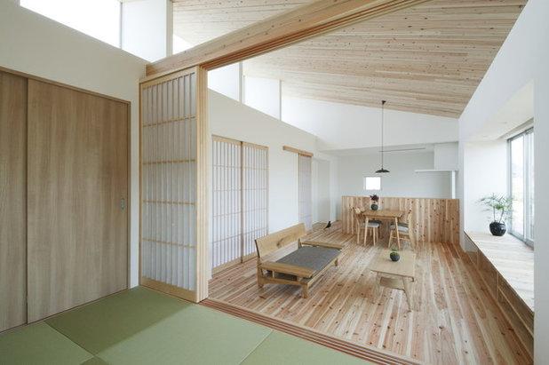 和室・和風 リビングルーム by ALTS DESIGN OFFICE (アルツ デザイン オフィス)