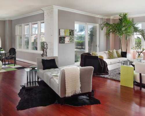 10 Living Rooms That Will Make You Want To Redecorate: Sherwin Williams Requisite Gray Interior Home Design Ideas