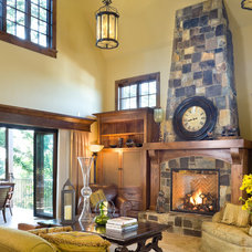Traditional Living Room by BC Custom Construction