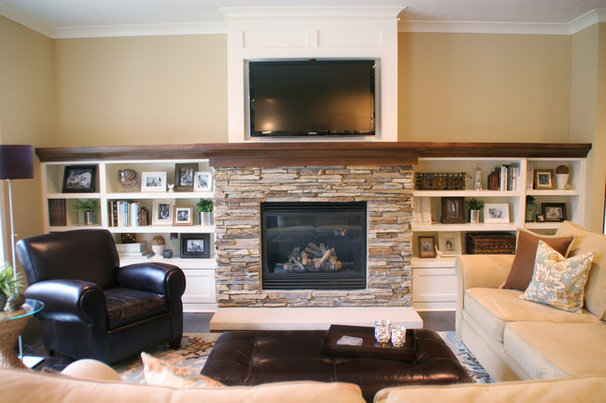 Traditional Living Room by Green Apple Design