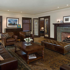 Traditional Living Room by FRICANO CONSTRUCTION CO