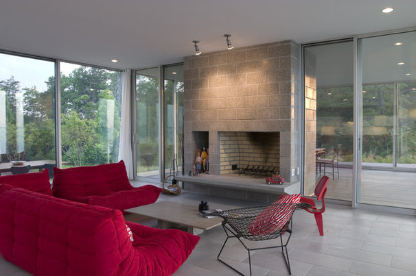 Modern Living Room by Ziger/Snead Architects