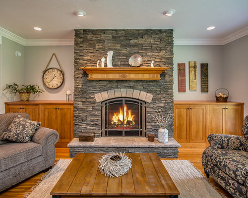 Fireplace Focal Point Living Room Design Ideas Remodels Photos Houzz