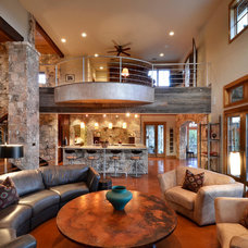Rustic Living Room by Latchford Bachardy Architects