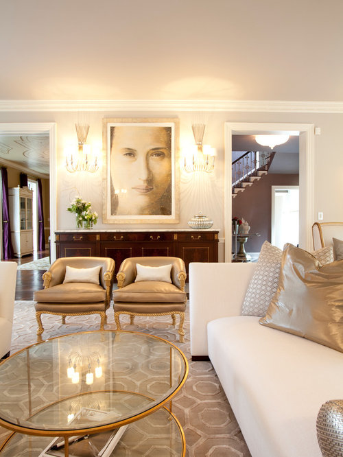 Gold living room houzz for Living room ideas gold
