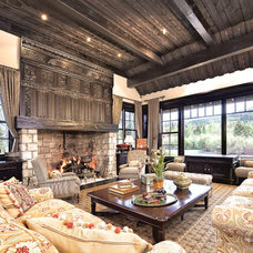 Traditional Living Room by Gunson Custom Mountain Architects