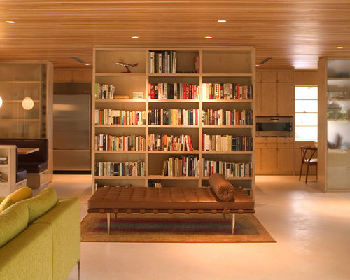 Bookshelf Wall Divider Design Ideas  Remodel Pictures | Houzz