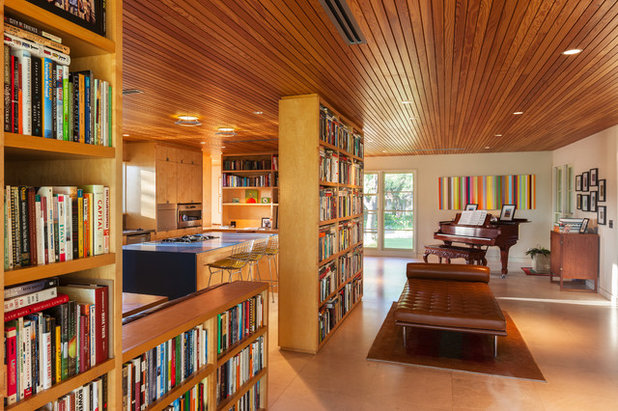 Midcentury Living Room by Tom Hurt Architecture