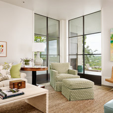 Transitional Living Room by Dalgleish Construction Company