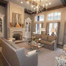 Traditional Living Room by Shane McFarland Construction
