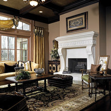 Traditional Living Room by Home Expressions Interiors by Laura Bloom Inc.
