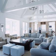 Beach Style Living Room by Linda Ashley Interior Decoration, Inc