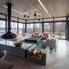 Contemporary Living Room by BWArchitects (formerly Basil Walter Architects)
