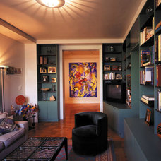 Eclectic Living Room by Wormser and Associates