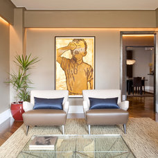 Contemporary Living Room by darci hether new york