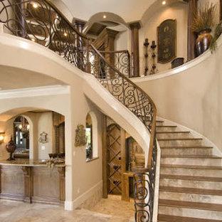 Inspiration for a mediterranean living room remodel in Houston