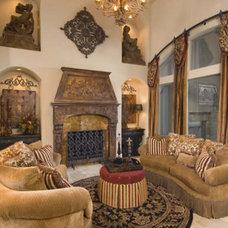 Mediterranean Living Room by Peterson Homebuilders, Inc.