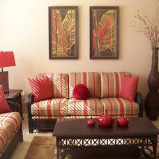 Tropical Living Room by AL Interiors International