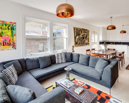 Copper Accents Living Room Design Ideas Remodels Photos Houzz