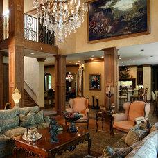 Mediterranean Living Room by RJ Aldriedge Companies Inc
