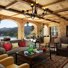 Mediterranean Living Room by Michael Kelley Photography