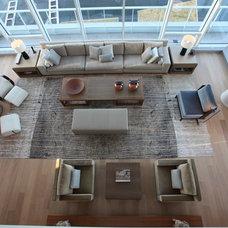Modern Living Room by Robert Bailey Interiors