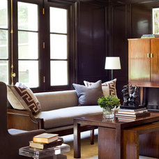 Transitional Living Room by Robert Brown Interior Design