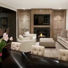 Modern Living Room by Robert J Erdmann Design, LLC