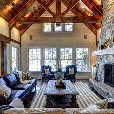 Rustic Living Room by Clarke Muskoka Construction