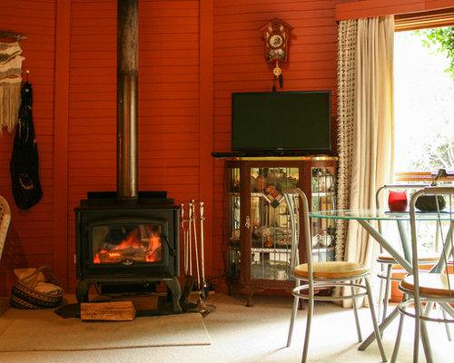 Wohnzimmer mit teppichboden und roter wandfarbe ideen design bilder houzz - Teppichboden wohnzimmer ...