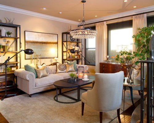 Transitional Style Living Room | Houzz