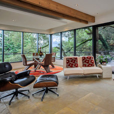 Modern Family Room by Dennis Mayer, Photographer