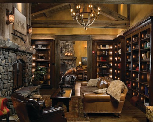 Bookshelves Around Fireplace Design Ideas Remodel