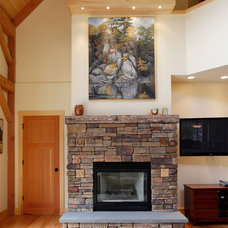 Traditional Living Room by Sullivan Building & Design Group