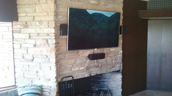 Rock TV Installation with Stone