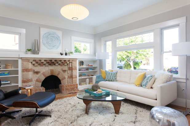 Transitional Living Room by Visual Jill Interior Decorating